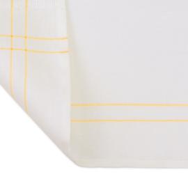 Så klut, Hvit med Gule Striper, 50x65cm, Halv Sengetøy / Bomull