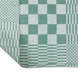 Stoff servietter, grønn og hvit rutete, 40x40cm, 100% bomull, Treb WS