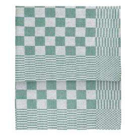 Geschirrtücher, Grün und Weiß Kariert, 65x65cm, 100% Baumwolle, Treb WS