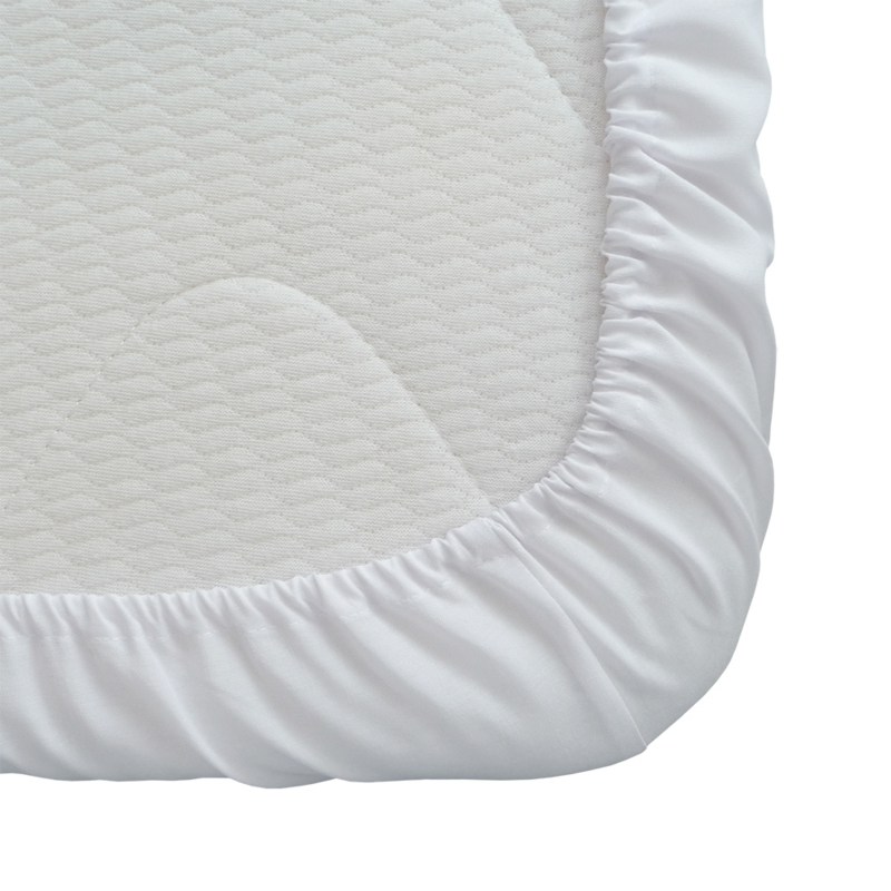 Fitted sheet, White, 90x200 + 20cm, PC 50-50, Treb PH