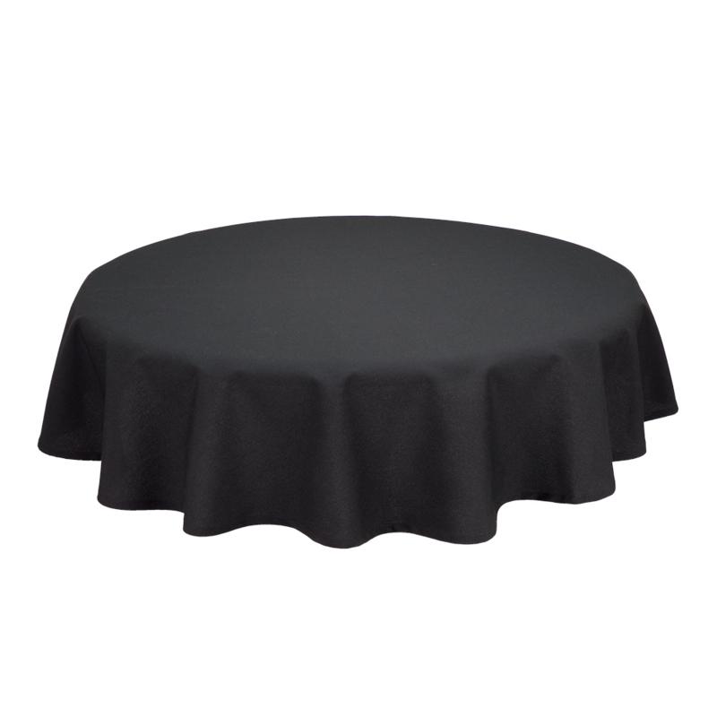 Bordduk, Sort, rund - 230cm diameter, Treb SP
