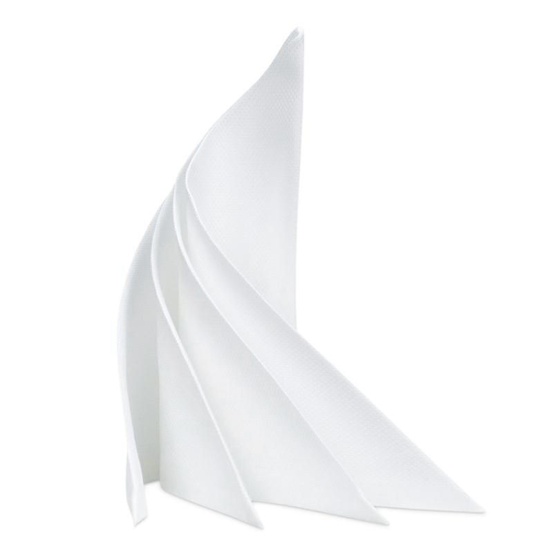 Serviettes de table, blanc, 53x53cm, coton, RAO