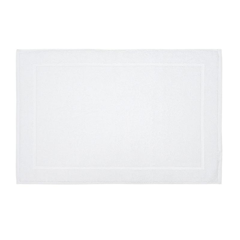 Tappetino Da Bagno, Bianco, Bordo Piatto, 50x76cm, Treb Bed & Bath