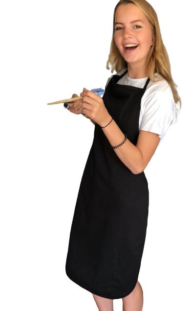Forklæde, sort, 100% bomuld, Treb Workwear