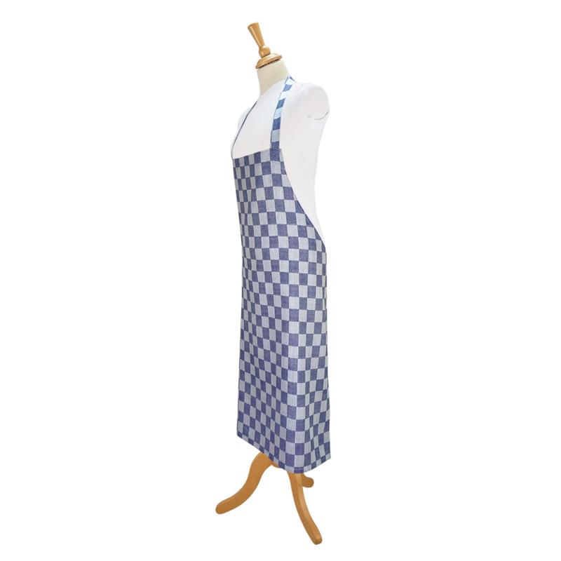 Schürze, Blau und Weiß Kariert, 70x95cm, 100% Baumwolle, Treb WS