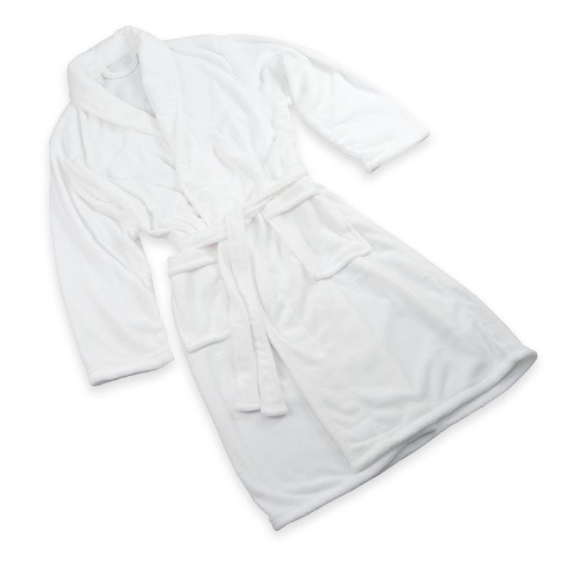 Roupão de banho, lã, branco