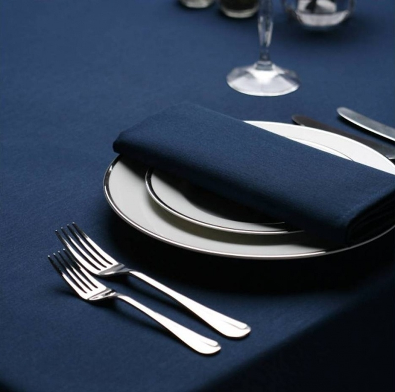 Bordsduk, mörkblå, 178x178 cm, Treb SP