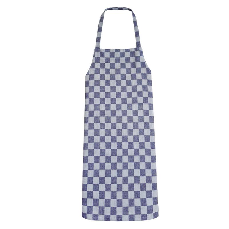 Tablier, damier bleu et blanc, 70x95cm, 100% coton, Treb WS