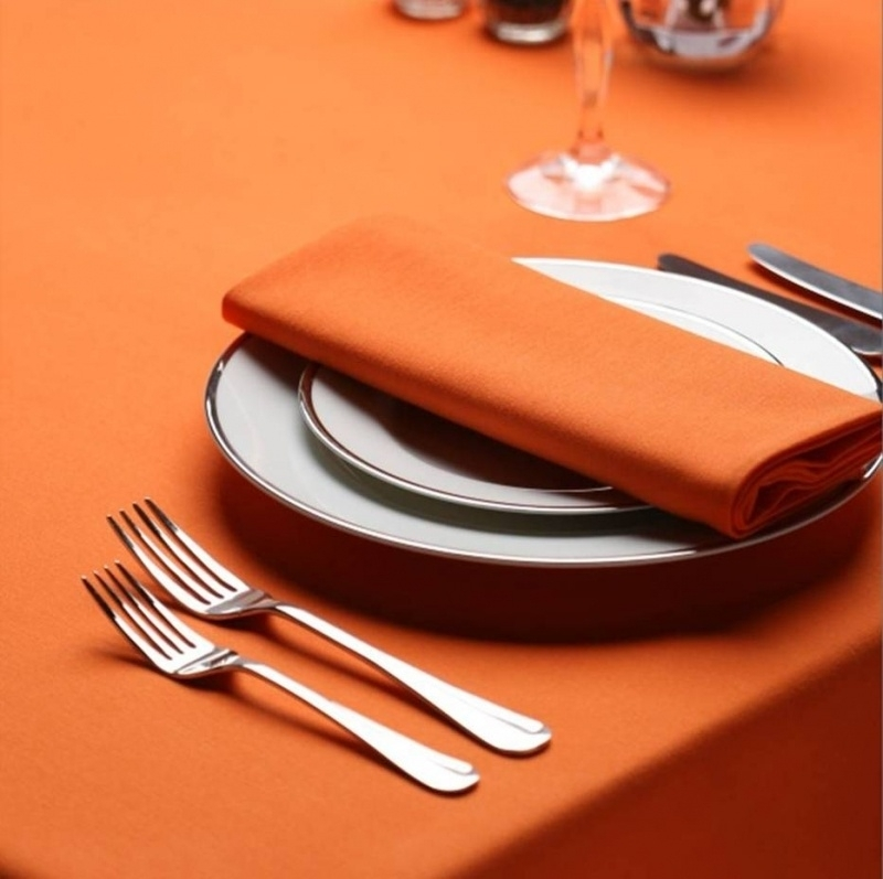 Serviettes de Table, Couleur Orange, Mandarine, 51x51cm, Treb SP