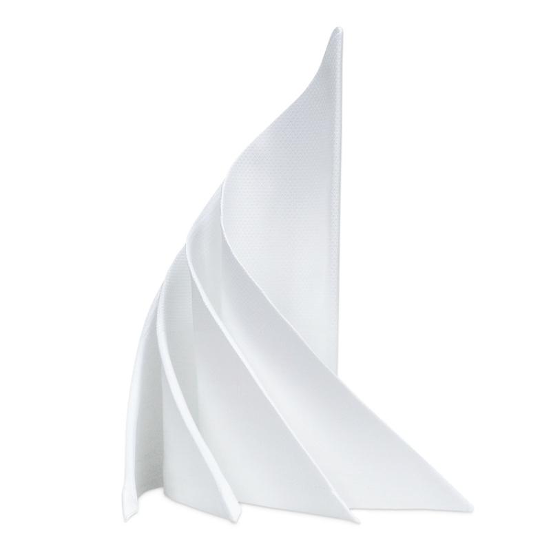 Stoffservietter, Hvit, 53x53cm, Bomull, RiR