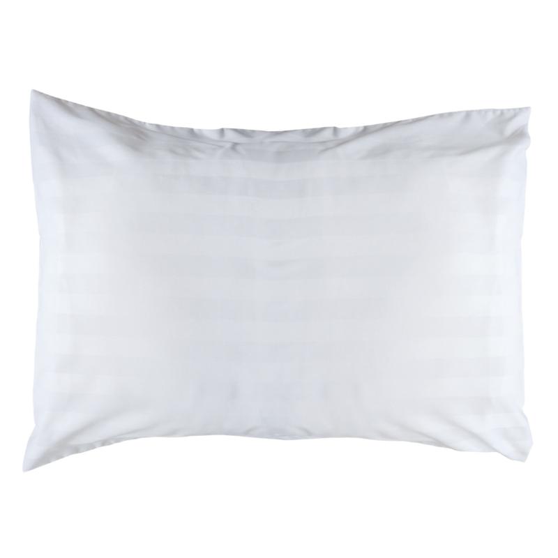 Pudebetræk, hvid, 65x90 + 20 cm, vævet satin striber, PC 50-50, Treb PH