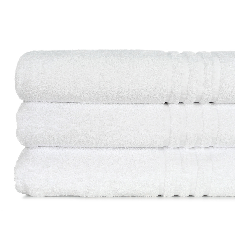 Sauna Badehåndkle, Hvit, 100x150cm, 500 gr / m2, Bomull