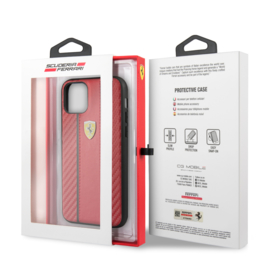 iPhone 11 - HARDCASE - Stripe on track - Red