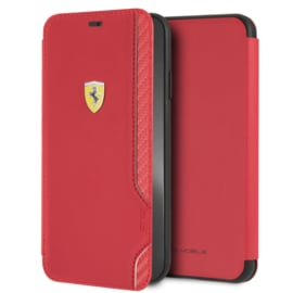 iPhone X(S) MAX - BOOKTYPE - On Track Carbon - Red