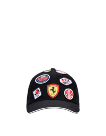 Kids Ferrari Patches Cap - rood
