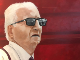 Kunstwerk Portret Enzo Ferrari