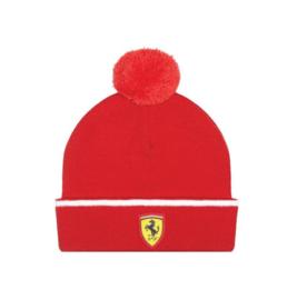 Ferrari Bobble Beanie voor kids - rood