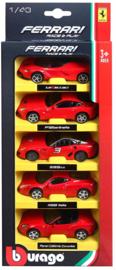 Bburago R&P 5 pack Ferrari - 1:43