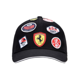 Kids Ferrari Patches Cap - zwart