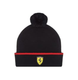 Ferrari Bobble Beanie voor kids - zwart