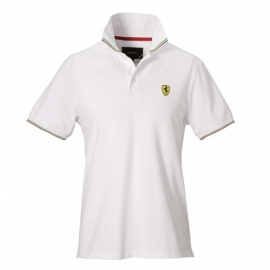 HK6 - Ferrari polo scudetto Flag - White