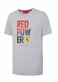 HG6 - Ferrari T-shirt Red Power - grijs