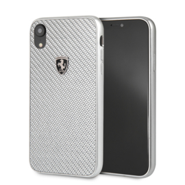 iPhone XR - HARDCASE  - Silver Carbon