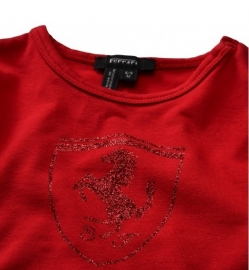KK6 * Ferrari Glitter T-shirt - red