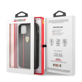 iPhone 11 - HARDCASE - Stripe on track - Black