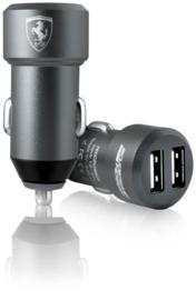 Ferrari dual USB Autolader - grijs