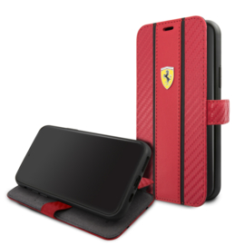 iPhone 11 - BOOKTYPE - Stripe on track - Red