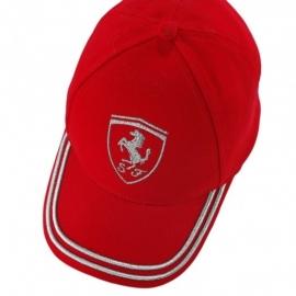 Kids Ferrari Cap Girl Glitter - Rood