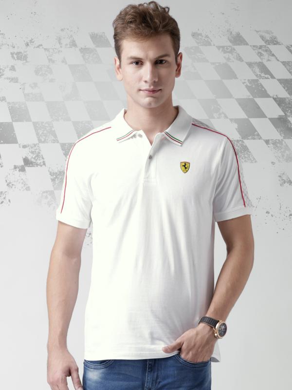 HK6 - Ferrari polo New CheckFlag - White