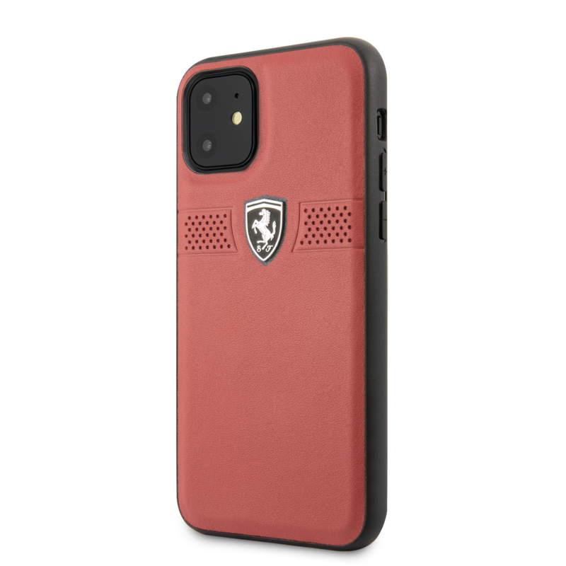 iPhone 11  - HARDCASE - Off Track Grained - Red