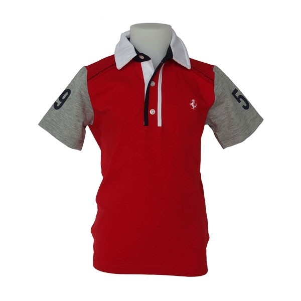 FE3303RO Ferrari Kids Polo - mt 110/116 & 122/128