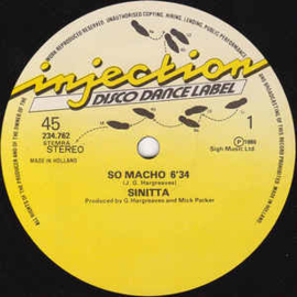 """Sinitta – So Macho (12"""" Single) T30"""