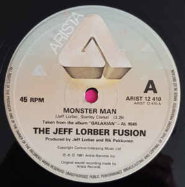 "Jeff Lorber Fusion ‎– Monster Man / Magic Lady / Spur Of The Moment (12"" Single) T20"