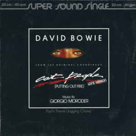 """David Bowie Music By Giorgio Moroder – Cat People (12"""" Single) T10"""