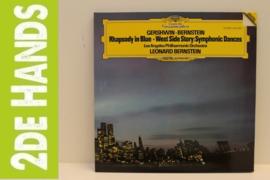 Gershwin, Bernstein, Los Angeles Philharmonic Orchestra – Rhapsody In Blue • West Side Story (LP) H40