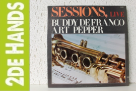 Buddy DeFranco And Art Pepper ‎– Sessions, Live (LP) C40