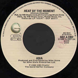 "Asia ‎– Heat Of The Moment (7"" Single) S80"