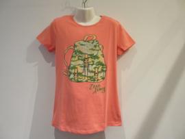 Shirt koraal met rugzak van Zero