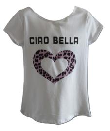 shirt wit met roze/lila ciau bella