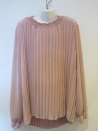 Plisse blouse roze