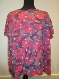Shirt army rood/grijs