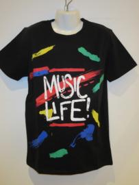 Shirt zwart music life