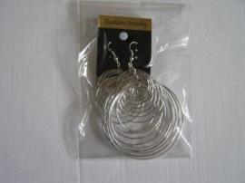 Oorbel silverlook ringen
