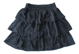 Stroken rok zwart/wit By Clara