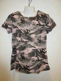 Shirt army roze/ groen van Zero