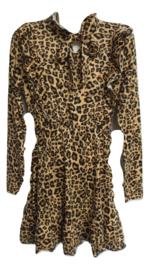 Jurk Zero leopard naturel strik